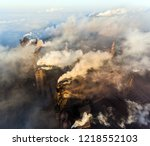 aerial view of power plant | Shutterstock . vector #1218552103