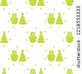 seamless pattern with children...   Shutterstock .eps vector #1218553333
