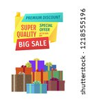 big sale for public holidays... | Shutterstock .eps vector #1218555196