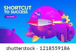 business competition concept.... | Shutterstock .eps vector #1218559186