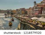 porto  portugal   june 15 2018  ...   Shutterstock . vector #1218579520