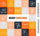 vector christmas icon set  ... | Shutterstock .eps vector #1218585010