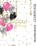 congratulations woman vector... | Shutterstock .eps vector #1218591526