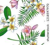 vector vintage seamless pattern ...   Shutterstock .eps vector #1218597970