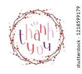 thank you handwritten vector... | Shutterstock .eps vector #1218599179