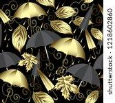weather 3d vector seamless... | Shutterstock .eps vector #1218602860