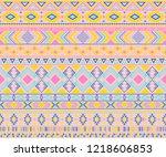 peruvian american indian... | Shutterstock .eps vector #1218606853