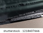 car windshield wiper with... | Shutterstock . vector #1218607666