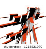 abstract architecture design | Shutterstock .eps vector #1218621070