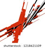abstract architecture design | Shutterstock .eps vector #1218621109