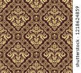 orient vector classic pattern.... | Shutterstock .eps vector #1218624859