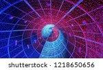 interior full of leds lights of ...   Shutterstock . vector #1218650656