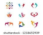 community care logo template  | Shutterstock .eps vector #1218652939
