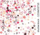 falling stars. hand drawn... | Shutterstock .eps vector #1218653710