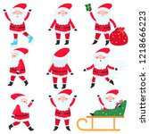 bright and cheerful santa claus ...   Shutterstock .eps vector #1218666223