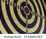 darts target.dartboard... | Shutterstock . vector #1218681463