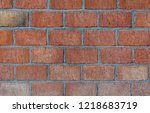 brick wall brown | Shutterstock . vector #1218683719