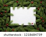 christmas card background.... | Shutterstock . vector #1218684739