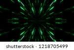 glitch lines  traveling in dark ... | Shutterstock . vector #1218705499