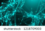 abstract connection dots.... | Shutterstock . vector #1218709003