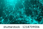 abstract connection dots.... | Shutterstock . vector #1218709006