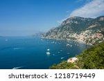 coastal towns in capri  italy.... | Shutterstock . vector #1218719449