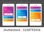 mobile pricing table design for ...