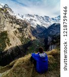 a moment of rest above... | Shutterstock . vector #1218759466