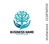 coral seaweed logo | Shutterstock .eps vector #1218760510