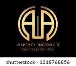 letter aa logo design template | Shutterstock .eps vector #1218768856