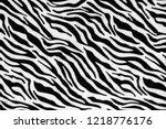 zebra stripes seamless pattern  ... | Shutterstock . vector #1218776176