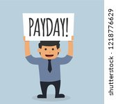 illustration of office employee ... | Shutterstock .eps vector #1218776629