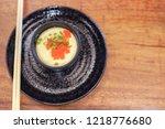 steamed eggs  egg custard dish  ... | Shutterstock . vector #1218776680