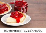 a classic plain no bake cherry... | Shutterstock . vector #1218778030