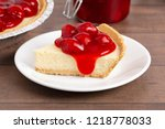 a classic plain no bake cherry... | Shutterstock . vector #1218778033