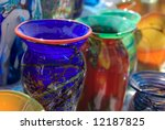 Colorful Blown Vases And...