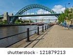 tyne bridges at newcastle from...   Shutterstock . vector #121879213