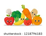 cute  funny and happy...   Shutterstock .eps vector #1218796183