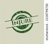 green injure distress rubber... | Shutterstock .eps vector #1218798730