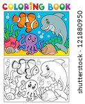 Coloring Book With Marine...