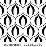 seamless retro black and white... | Shutterstock .eps vector #1218811390