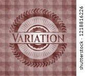 variation red geometric pattern ... | Shutterstock .eps vector #1218816226
