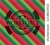 workforce christmas colors... | Shutterstock .eps vector #1218823423