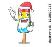 santa with gift number four... | Shutterstock .eps vector #1218837253