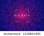 deep learning background.... | Shutterstock .eps vector #1218841300