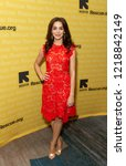 Small photo of New York, NY - November 1, 2018: Arianna Rosario wearing dress by Catherine Deane attends the 2018 IRC Rescue Dinner at New York Hilton Midtown