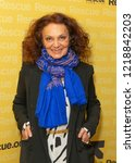 Small photo of New York, NY - November 1, 2018: Diane Von Furstenberg attends the 2018 IRC Rescue Dinner at New York Hilton Midtown