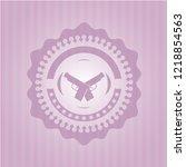 crossed pistols icon inside...   Shutterstock .eps vector #1218854563