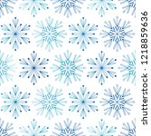 seamless pattern with blue... | Shutterstock .eps vector #1218859636