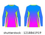 uniforms for competitions  team ... | Shutterstock .eps vector #1218861919